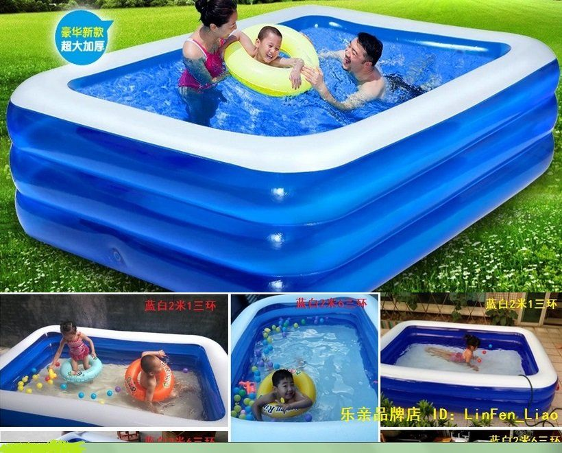 Large Swimming Pool Thickening Inflatable Big Swimming Pool Size 262 172 60 In 2020 Big Swimming Pools Swimming Pool Size Pool Sizes