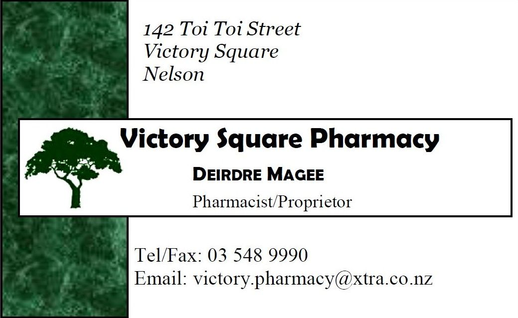 This is the current Victory Square Pharmacy business card. I created ...