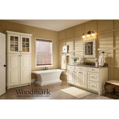 American Woodmark 14 9 16x14 1 2 In Cabinet Door Sample In Savannah Painted Hazelnut Glaze
