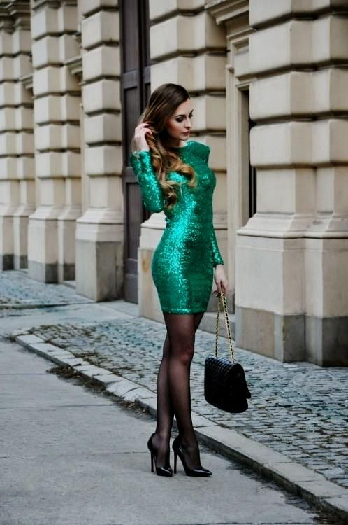 Cocktail dress with tights