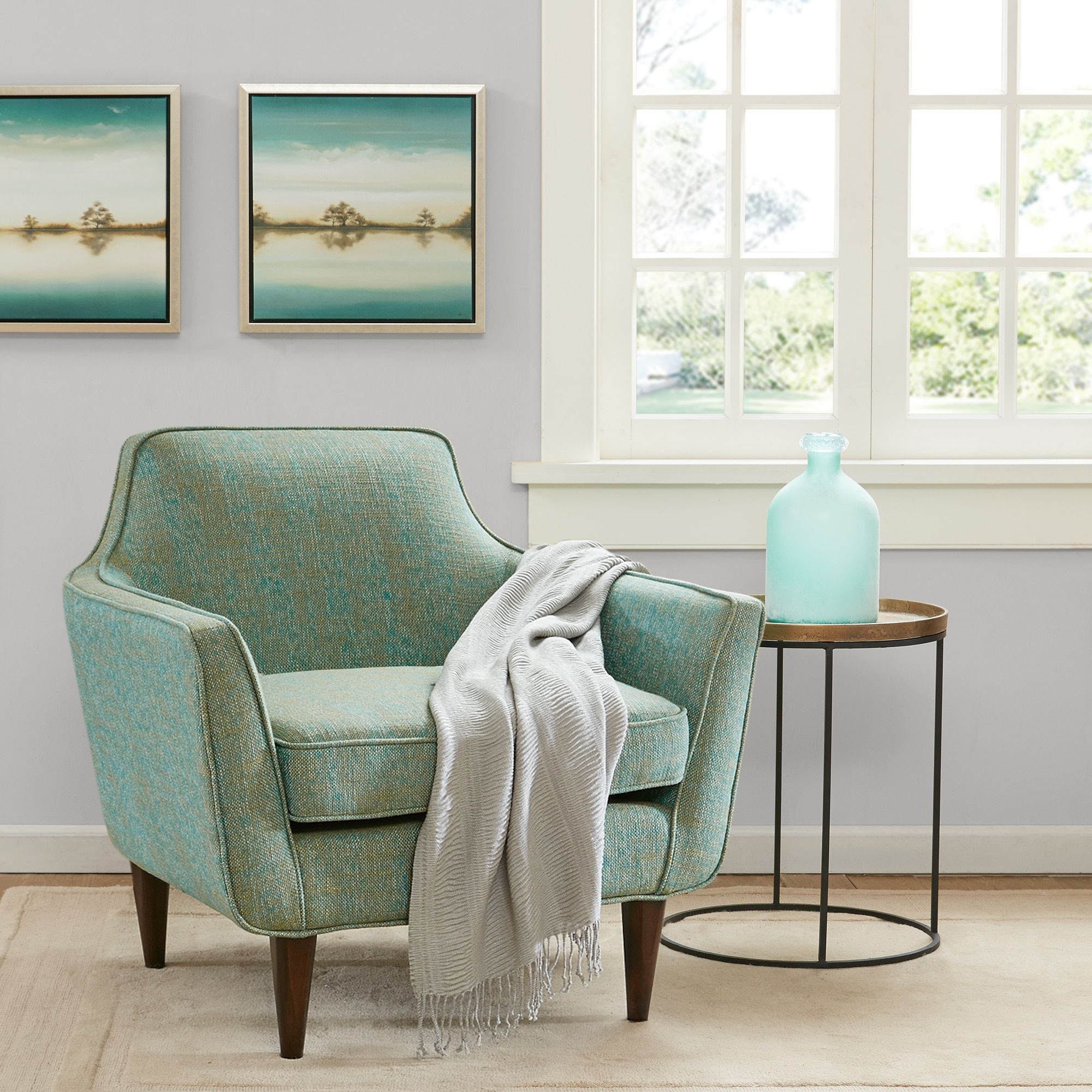 Best Madison Park Taye Blue Green Mid Century Accent Chair 34 400 x 300