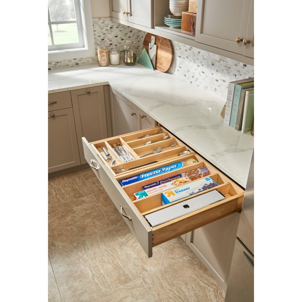 Rev A Shelf 34 5 In Tiered Cutlery Drawer With Soft Close Slides For Frameless 4wtcd 876flsc 1 The Home Depot Kitchen Remodel Small Kitchen Storage Kitchen Remodel