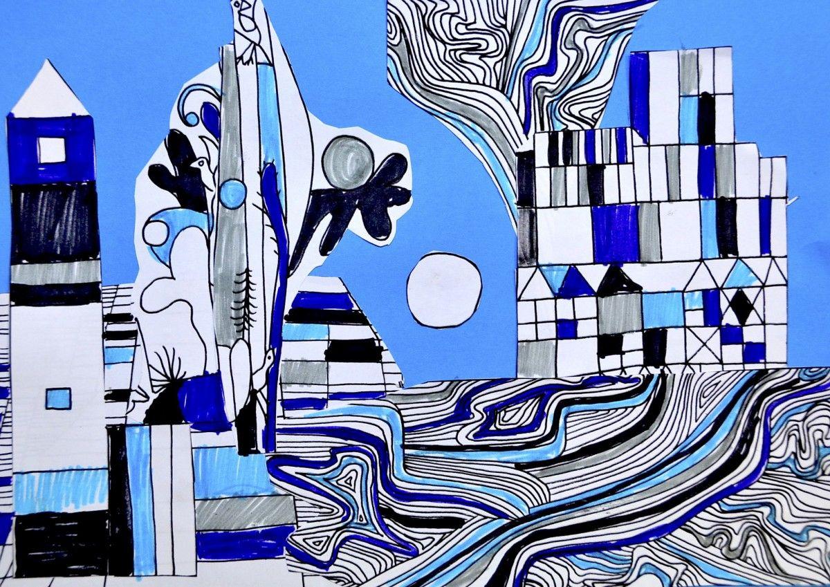 Paul Klee Collage 5 Worksheets