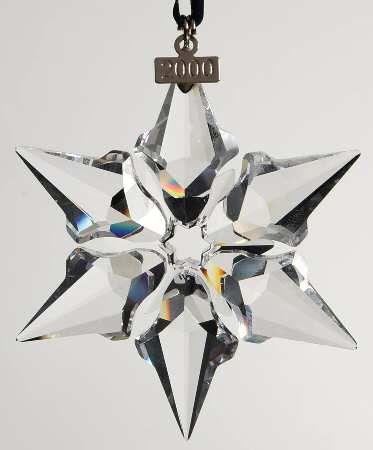 5f53d194f0f6 Swarovski 2000 Annual Christmas Snowflake Ornament Z