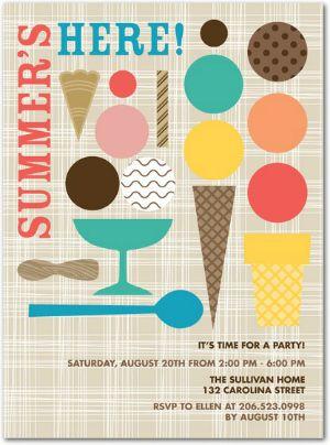 It\u0027s ice cream party time Tiny prints