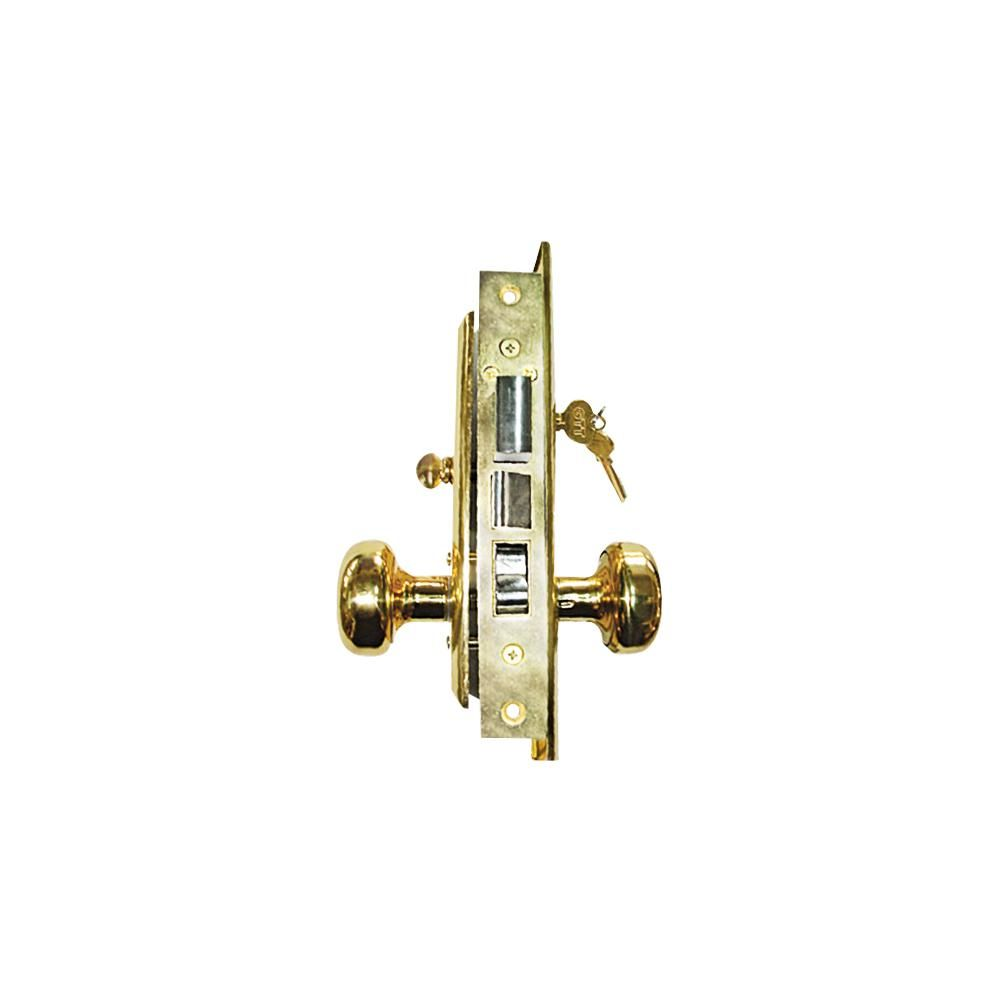 Grip Tight Tools Brass Mortise Entry Left Hand Lock Set With 2 1 2 In Backset And 2 Sc1 Keys Ml01 Mortise Lock Classic Doors