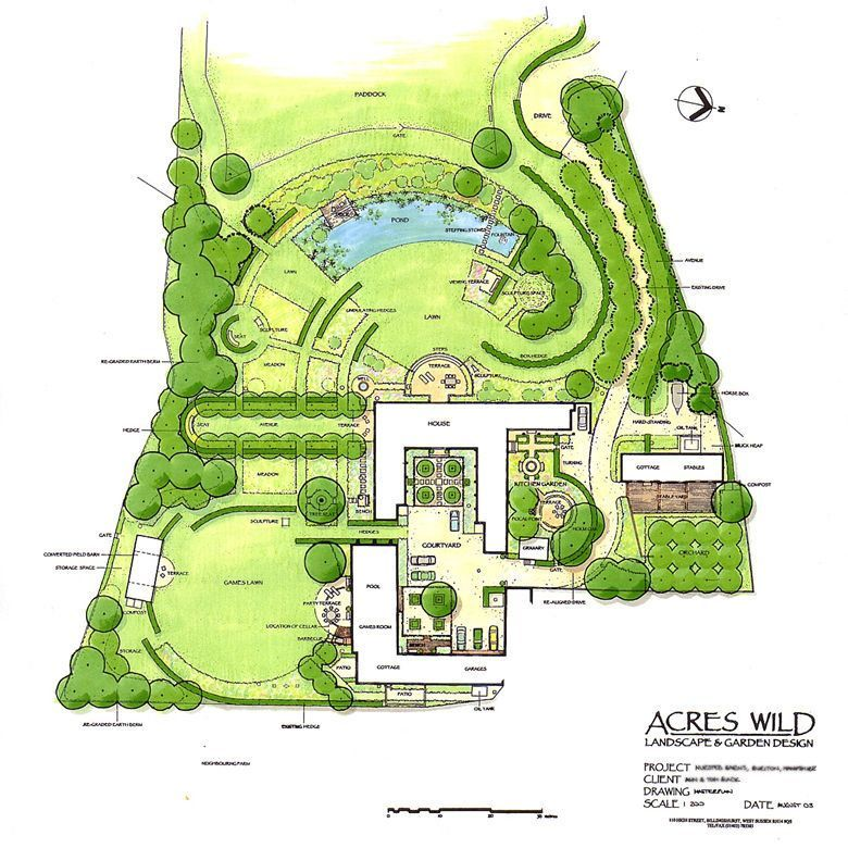 Masterplan Of Country Garden Design By Acres Wild Landscape Design Drawings Country Garden Design Landscape Plans