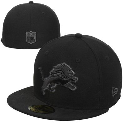 uk availability fe12e 935a3 New Era Detroit Lions Basic 59FIFTY Fitted Hat - Black Gray