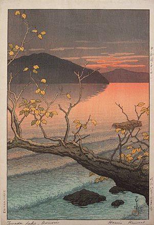 Kawase Hasui, 1883-1957, Towada Lake, Aomori (Towadako noguchi)