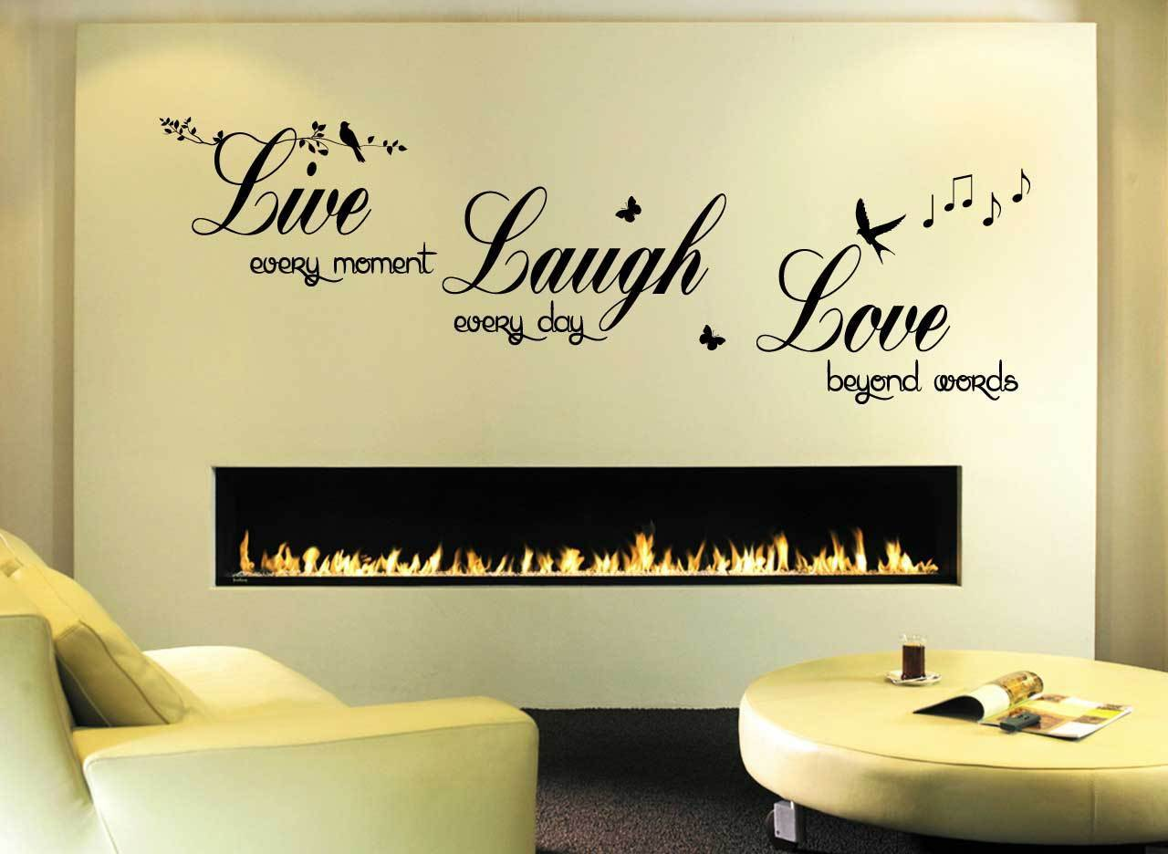Live Love Laugh - Wall Quote Sticker - Art Decor Living Room Hall ...