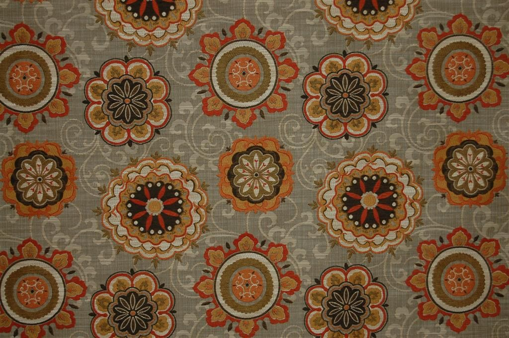 Swavelle Mill Creek Fabric Philby Terracotta Upholstery