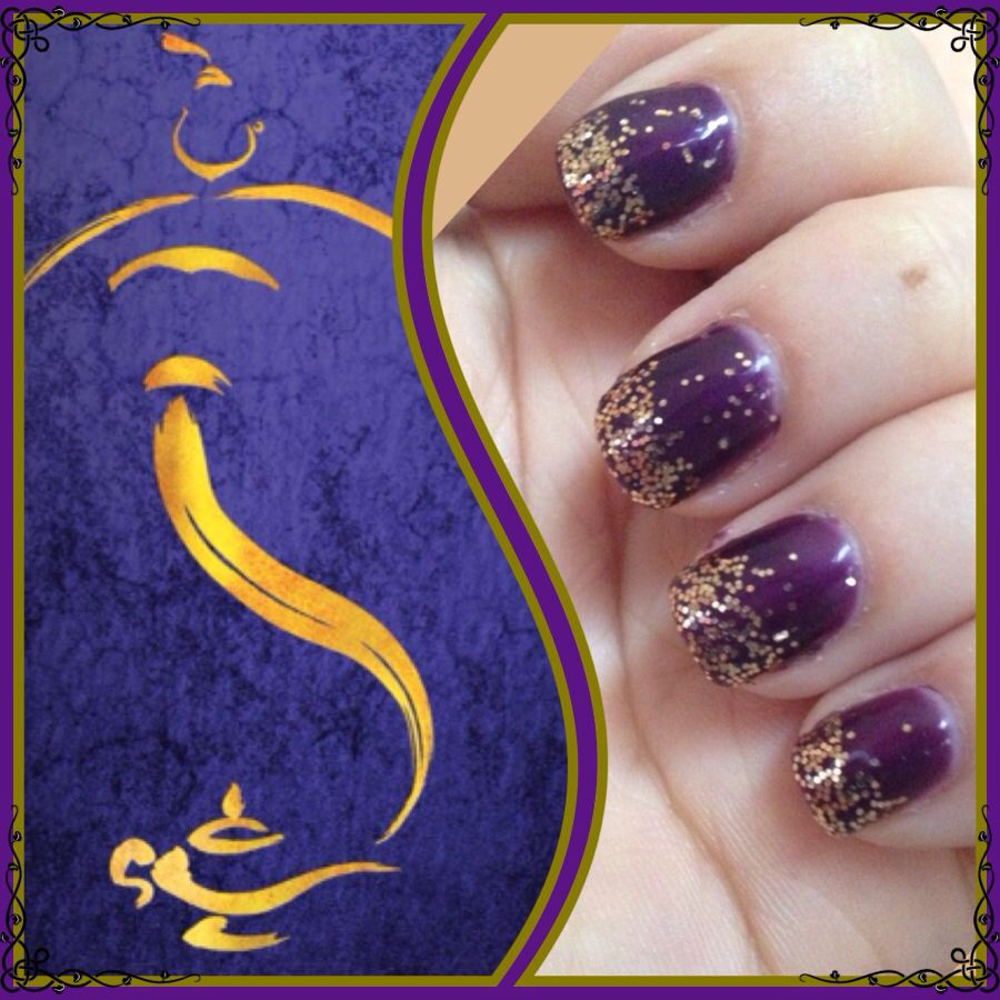 Aladdin Nail Art: My Aladdin Broadway Inspired Nails