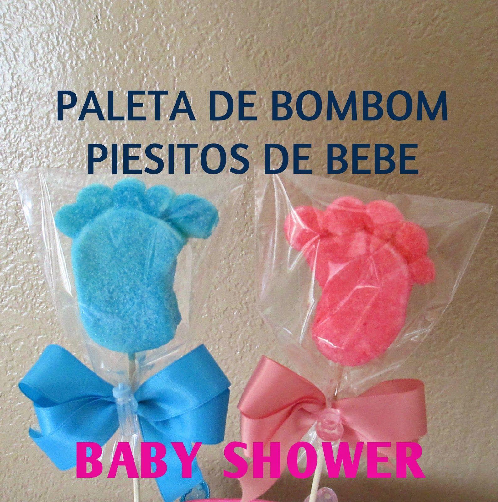 PALETA DE BOMBON PIESITOS DE BEBE PARA BABY SHOWER Madelin Cakes