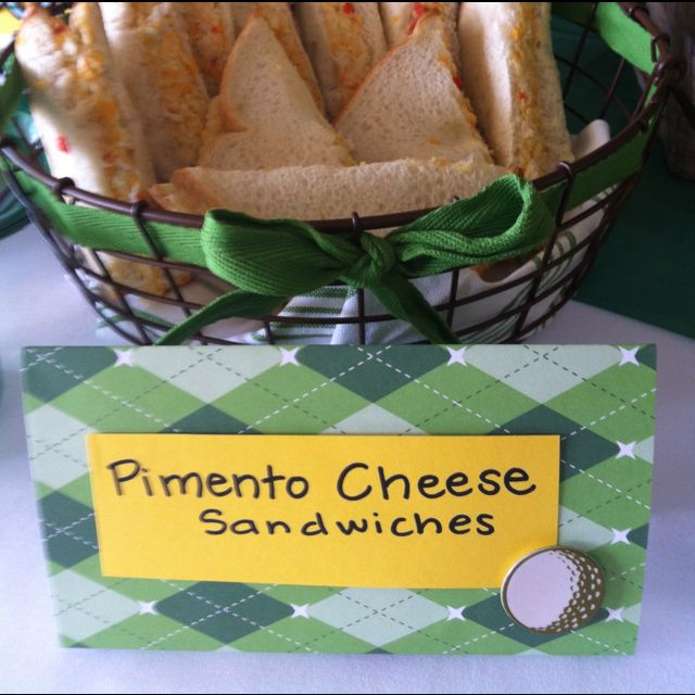 Masters Party - pimento cheese sandwiches