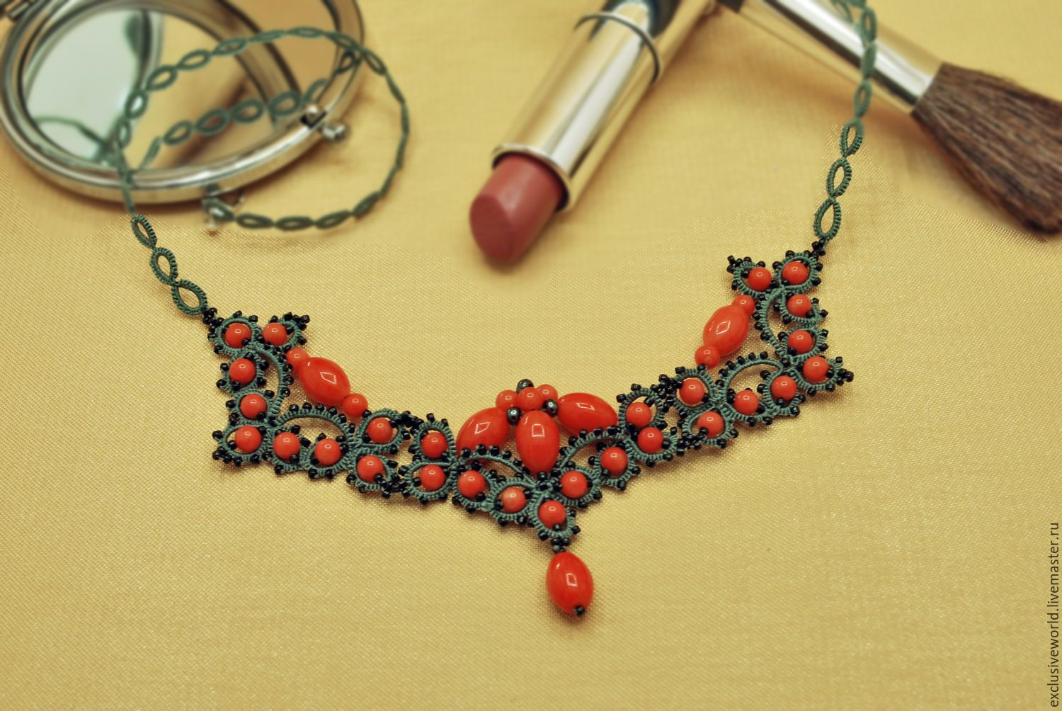 Ручная работа, handmade (With images) | Tatting necklace ...