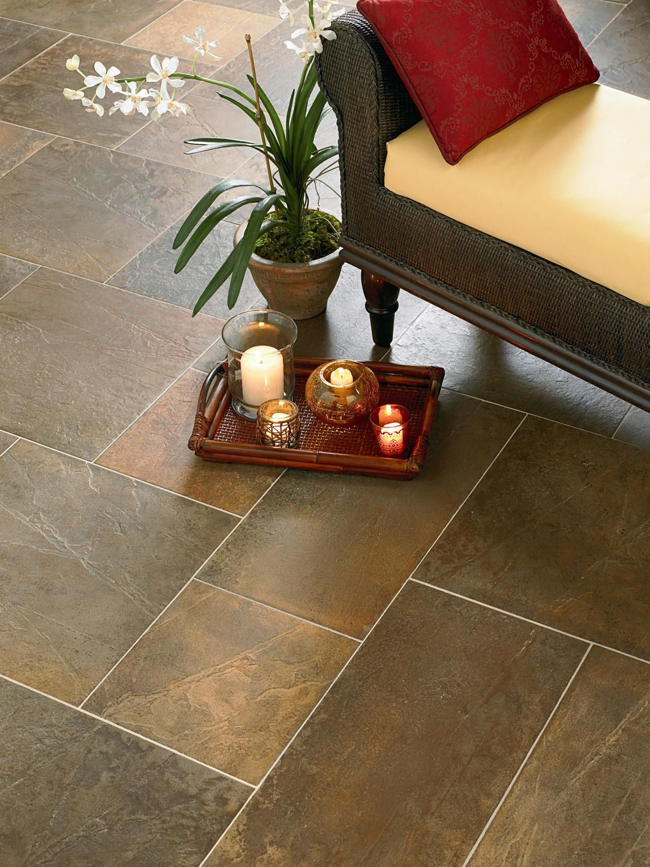 Tile flooring options flooring options hgtv and decorating stone like porcelain old world grotto with all the chip and moisture protection of hard wearing ceramic if the house is a new construction it crucial to dailygadgetfo Choice Image