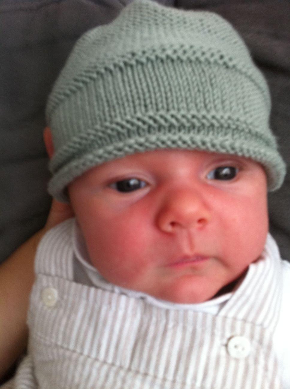 patron tricot bonnet de naissance