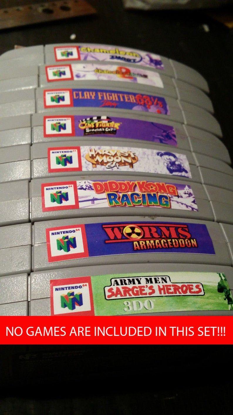 Nintendo N64 Cartridge Spine Top End Labels All U S Games Free U S Shipping In 2020 N64 Wwf Wrestlemania 2000 Return Of The Joker