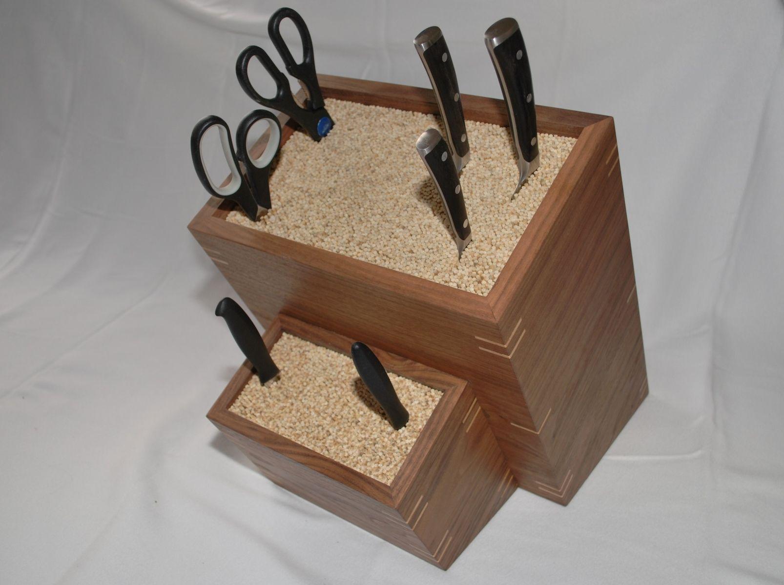 Custom Made Custom Made Knife Block Knife Block Diy Kitchen