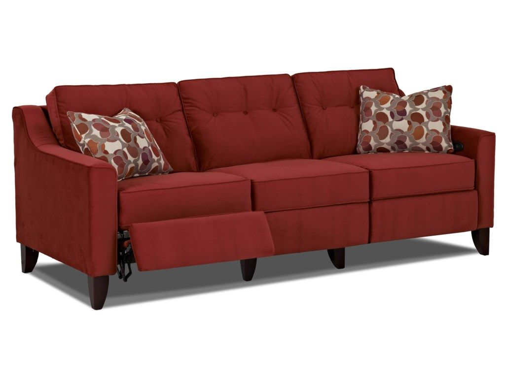 Audrina Contemporary High Leg Power Reclining Sofa By