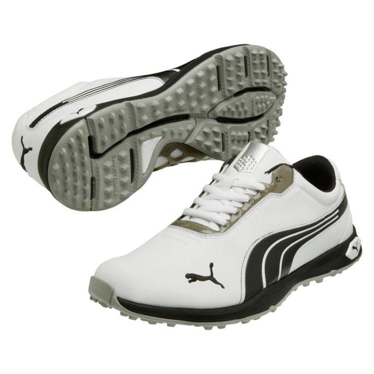 Puma Biofusion Spikeless Mens Golf Shoes White Black Silver ... f955e6d4053e