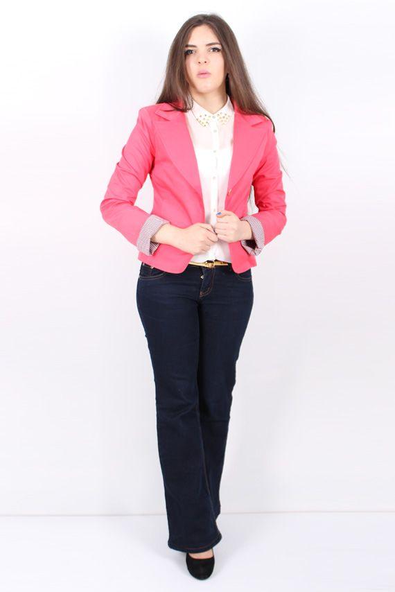 Brand : ( PRETTY SINDIRELLA ) , Color (Pink ) , Golden Button , Button closure , Front two pockets, www.shayakti.com