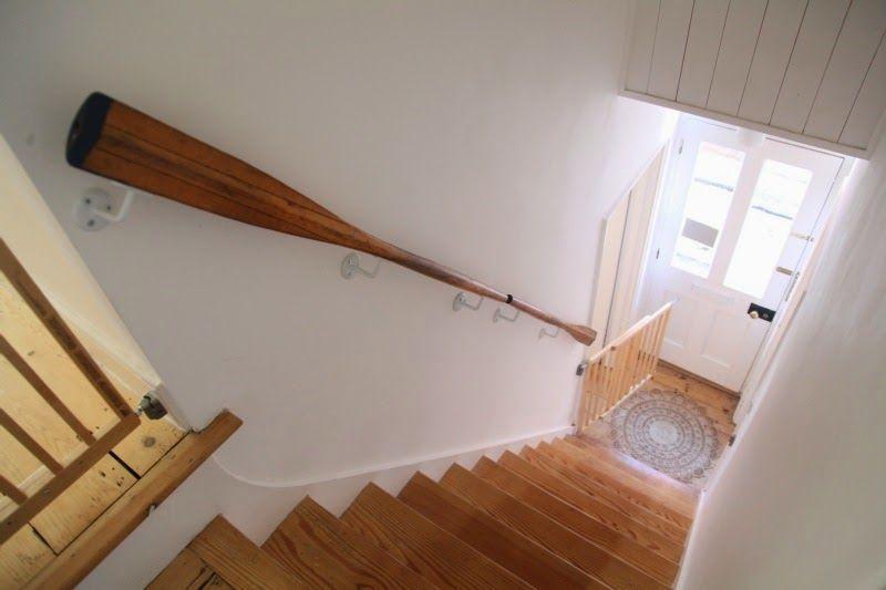 Une idée de rampe d\'escalier ... à adapter avec une vieille paire de ...