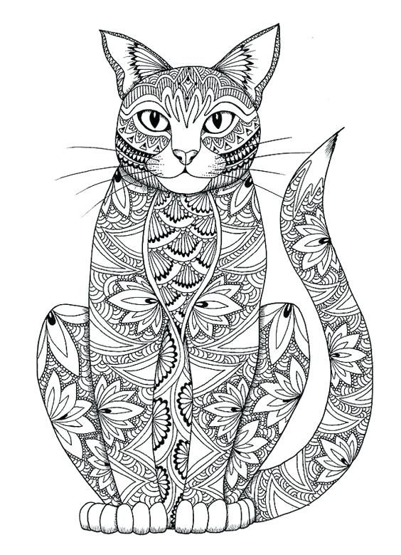 Coloring Pages For Adults 3 Adult Coloring Pages Cats 3 1 More 3d