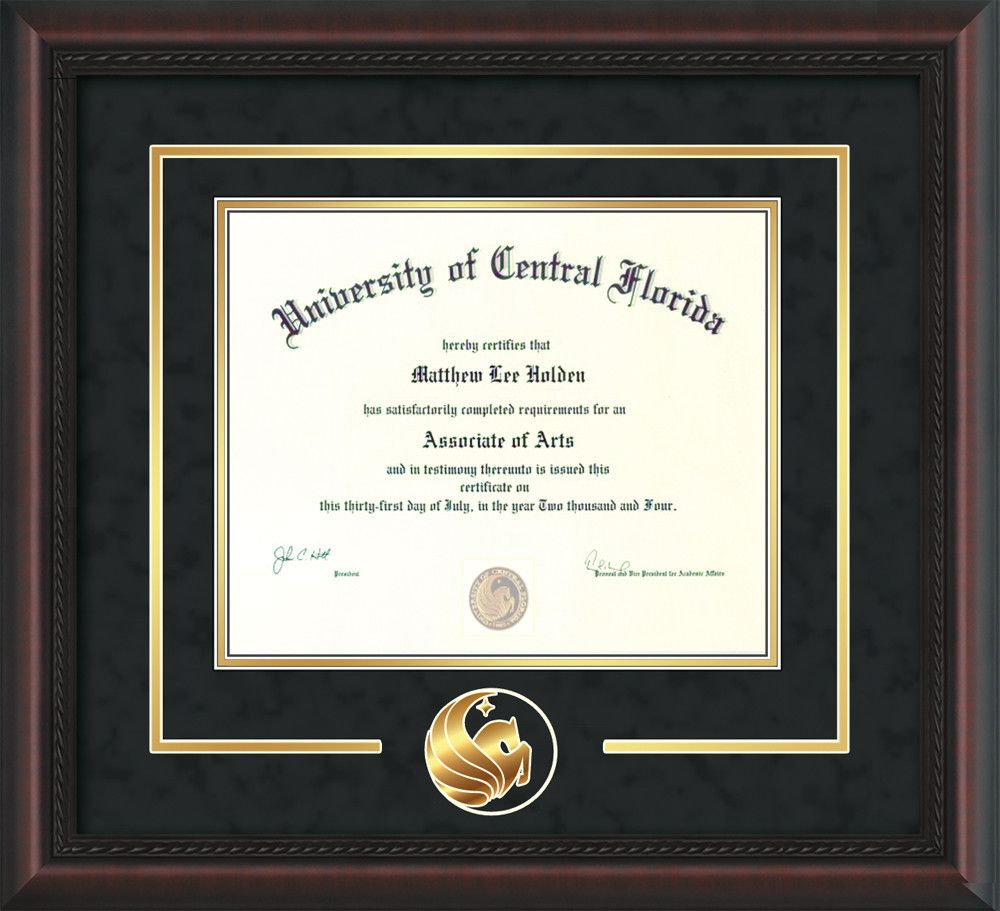 University of Central Florida Diploma Frame - Mahogany Braid - 3D ...