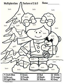 Multiplication Winter | Christmas math worksheets ...