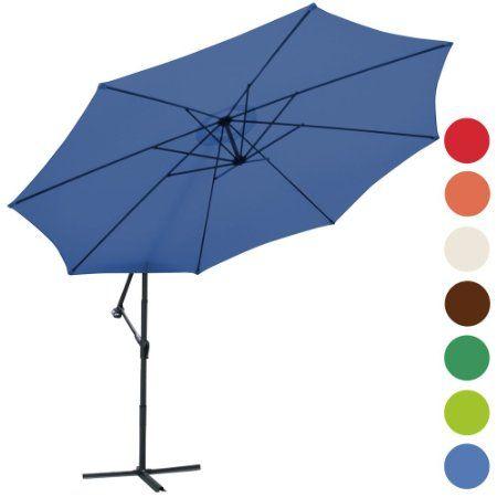 Miadomodo® AMPS03/2 Garden Parasol Ø 3.5 m DIFFERENT COLOURS (Blue): Amazon.co.uk: Garden & Outdoors