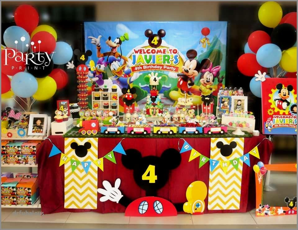 41 Awesome Mickey Mouse Clubhouse Birthday Table Decorations