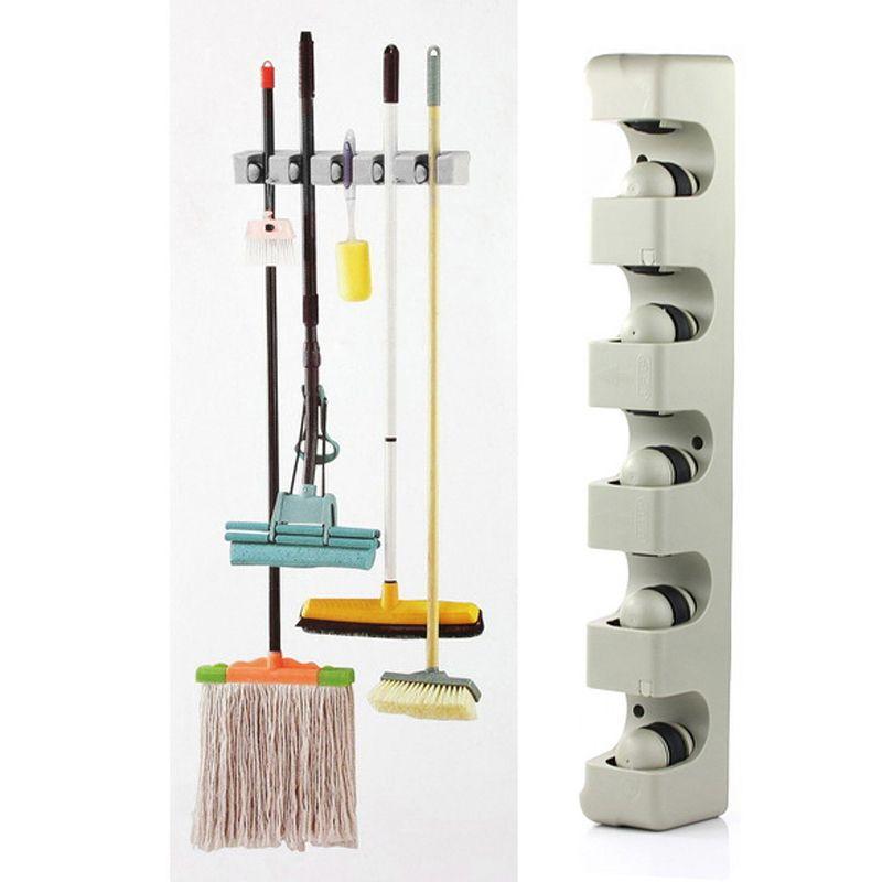 ABS Keuken Muur Gemonteerde Hanger 5 Positie Keuken Storage Mop ...