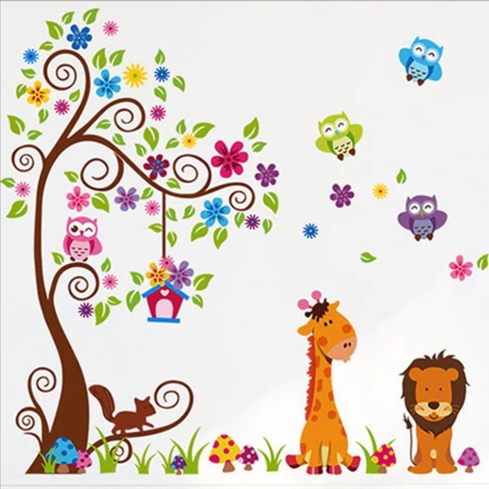 Vinilos decorativos infantiles animales y arboles 260401 for Vinilos infantiles precios