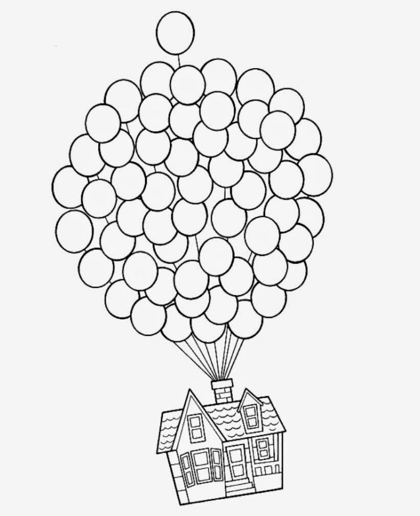 up movie house with balloons - Google Search  Disney coloring