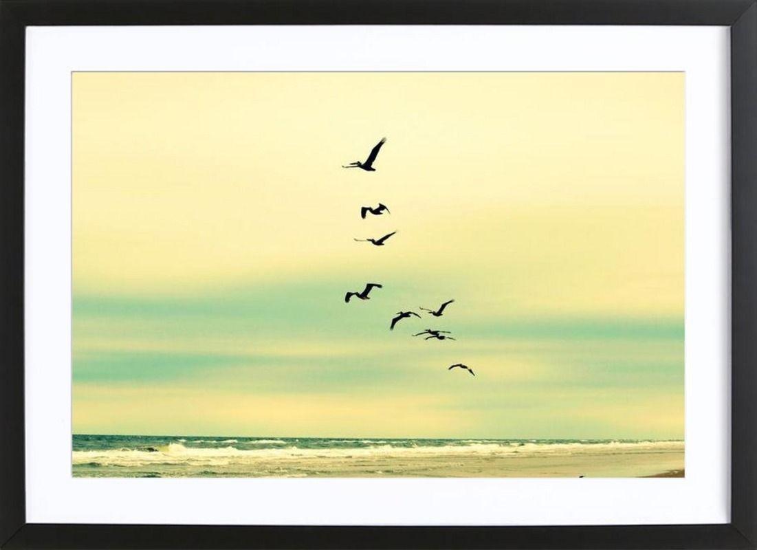 Across The Endless Sea als Gerahmtes Poster von Robin Delean ...