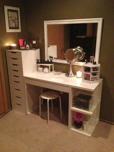 Love This Homemade Vanity Cheap Home Decor Beauty Room Vanity Room