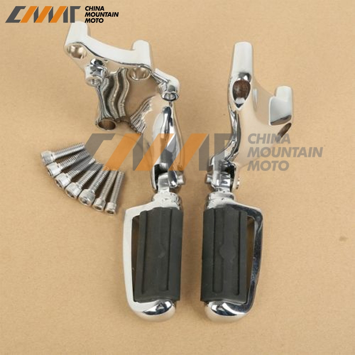 82.00$  Buy here - http://alih8a.worldwells.pw/go.php?t=32724872692 - Chrome Foot Pegs & Support Brackets For Harley XL883 XL 1200 Iron 2014-2016 2015
