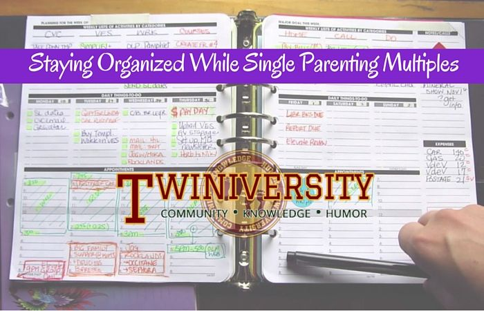 Staying Organized While Single Parenting Multiples
