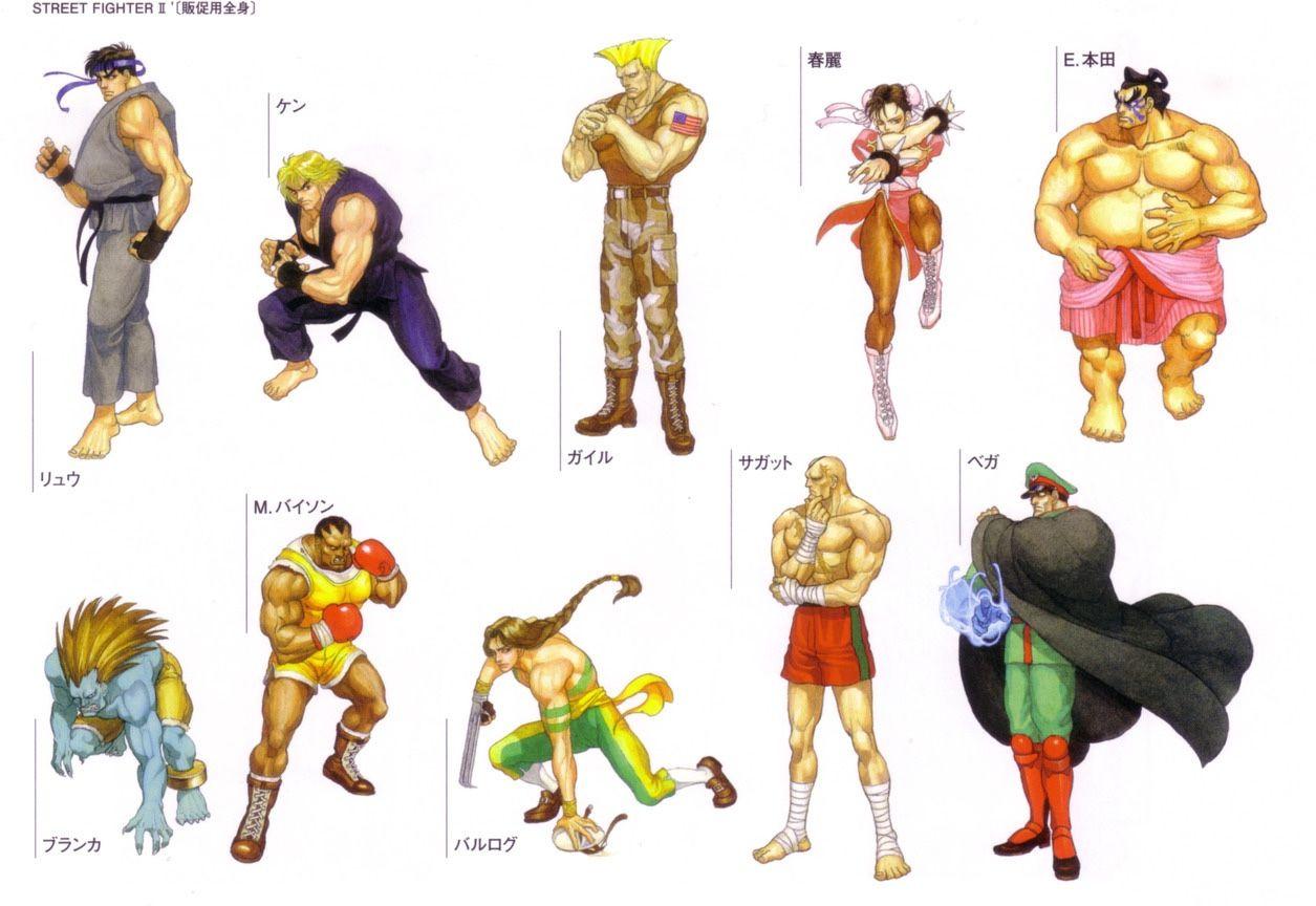 versoes classicas dos personagens de street fighter ii arte de kinu nishimura ストリートファイター ファイター キン肉マン