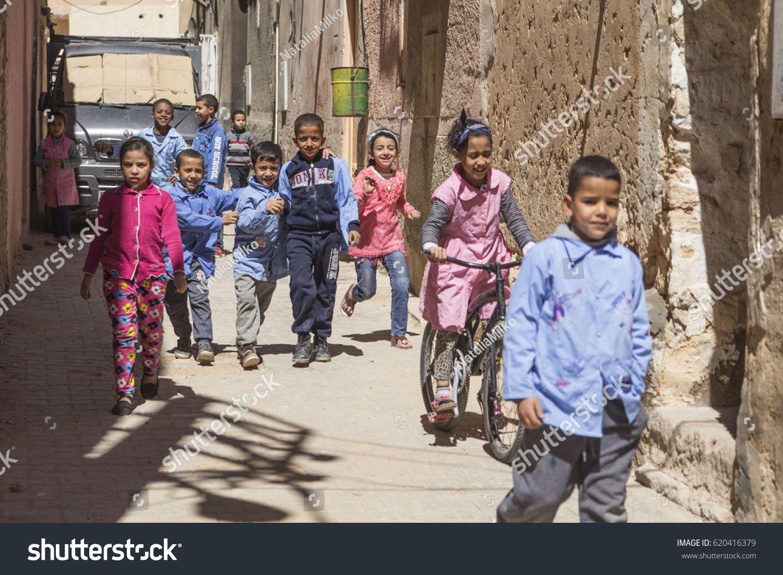 GHARDAIA, ALGERIA - April 3, 2017: Algerian children playing on the street of old town Ghardaia, M'Zab valley, #Ad , #SPONSORED, #Algerian#children#GHARDAIA#ALGERIA
