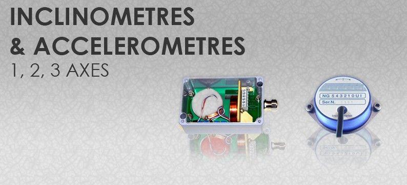 Accéléromètres / Inclinomètres.  Large gamme de capteurs Inclinomètres et Accéléromètres capacitifs.  Nous pouvons aussi créer votre capteur sur mesure adapté à votre application. Nos boîtiers sont assemblés à la demande, vous permettant de calibrer le signal sortie et l'angle de mesure en fonction de votre besoin.  Notre vitrine en ligne de capteurs Inclinomètres : http://www.sensel-measurement.fr/13-inclinometre  Accéléromètres : http://www.sensel-measurement.fr/14-accelerometre