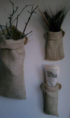 No-sew burlap bag tutorial (from Farmhouse Porch)