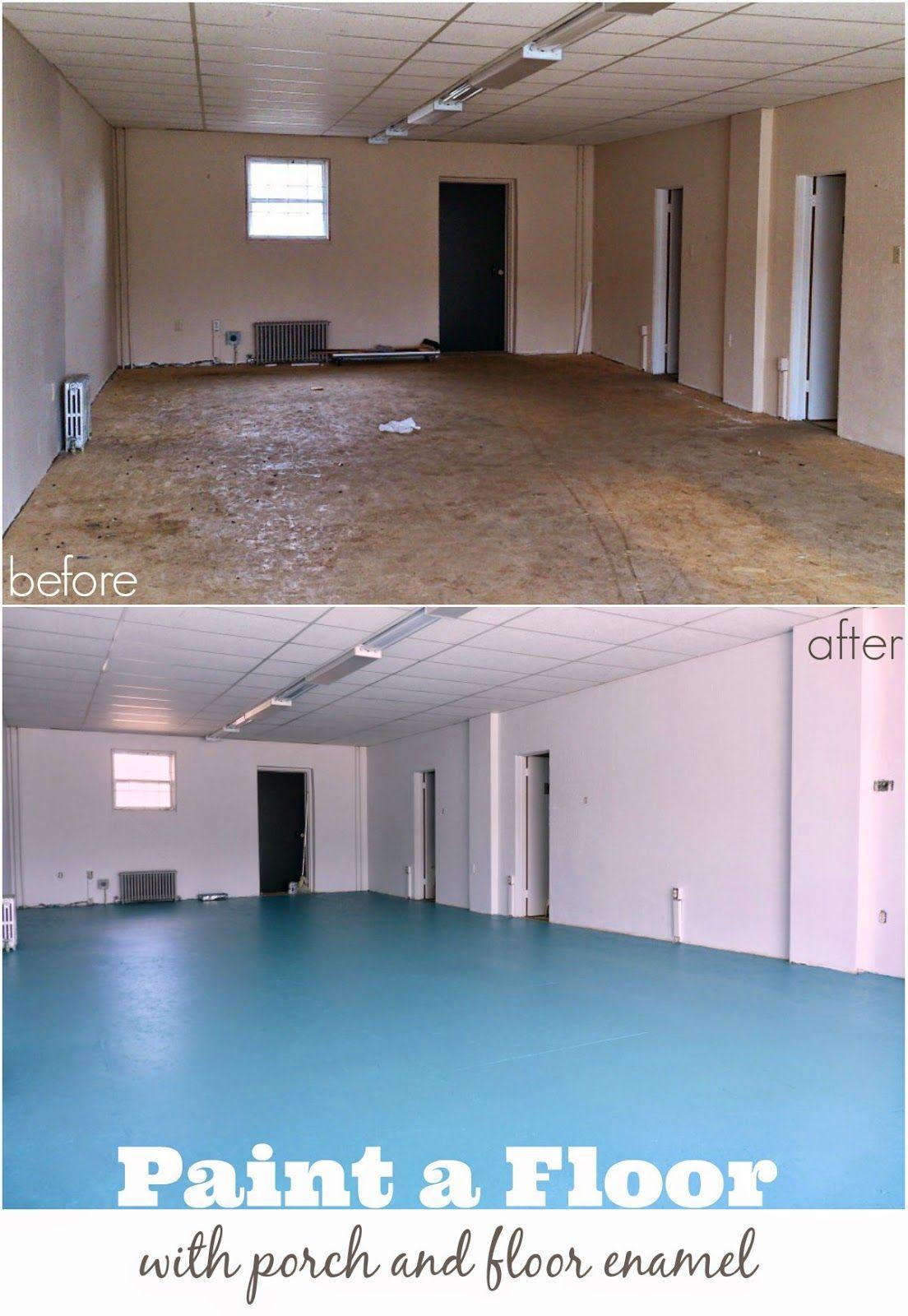 Diy Painted Osb Floors Mmmm Teal Dans Le Lakehouse Paint Particle Board Particle Board Floor Diy Flooring