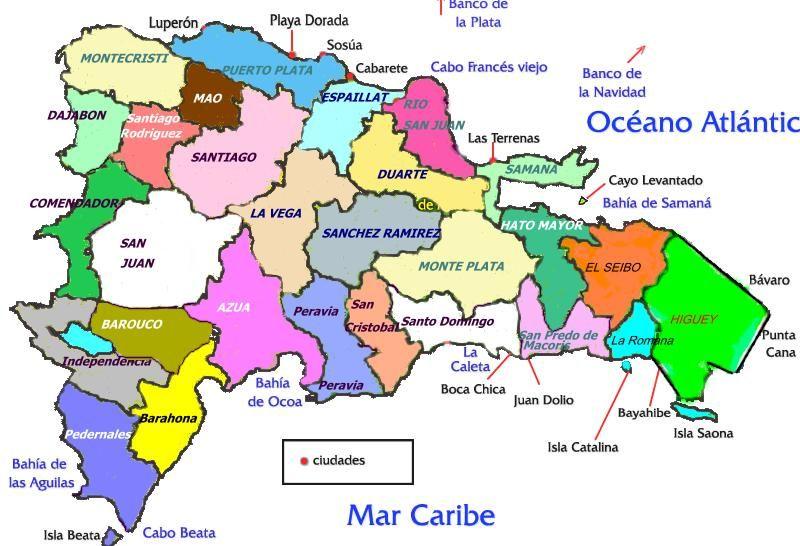 Resultado De Imagen Para Mapa De La Republica Dominicana Con Sus Provincias Y Ciudades Paintings Art Prints Map Prints
