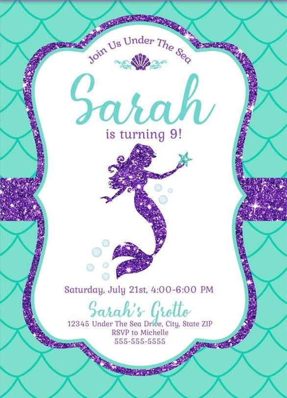 free mermaid invitation template for
