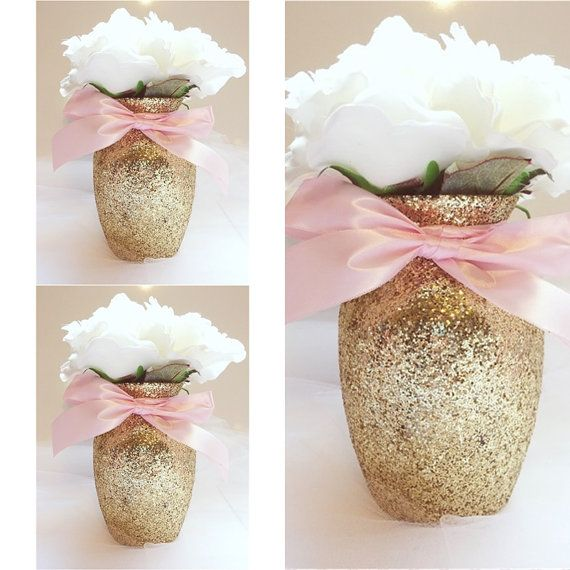 gold and pink baby shower baby shower centerpieces birthday girls