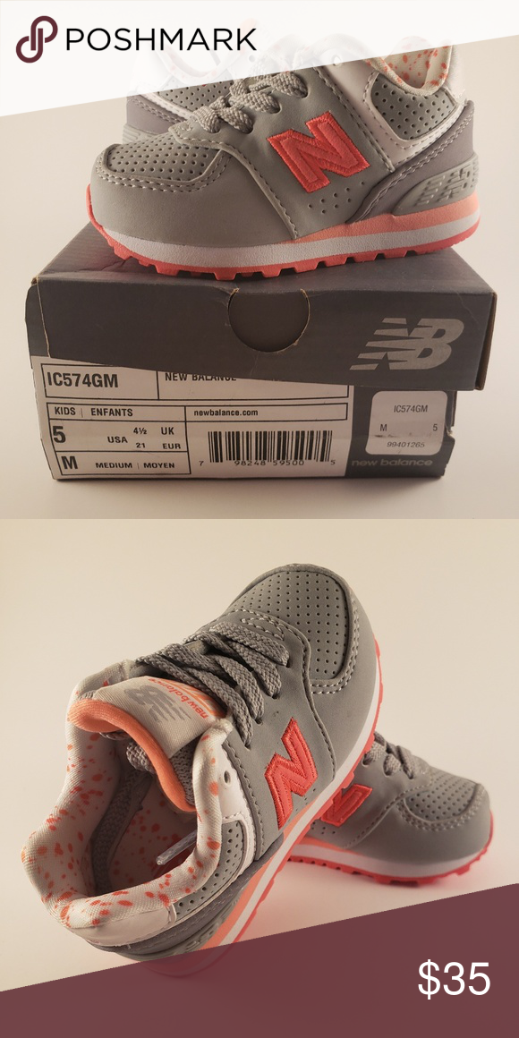 3b484016 NEW BALANCE infant size Brand new in box. Infant shoes. Gray and ...