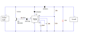 Solar Battery Charger Circuit With Over Charge Protection Solar Battery Solar Battery Charger Battery Charger Circuit