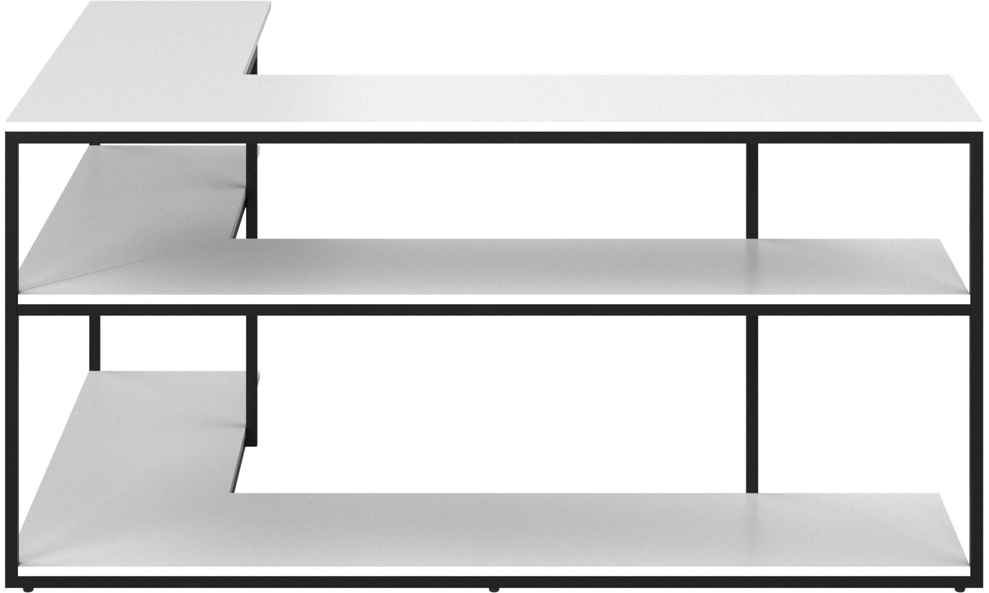 Wall Systems Bordeaux Console Table Square White Lacquered